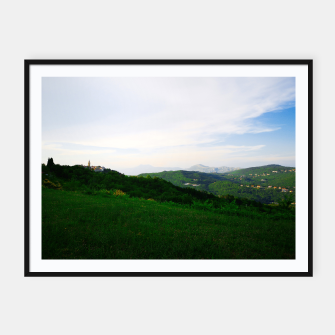 Thumbnail image of landscape near labin croatia std Framed poster, Live Heroes