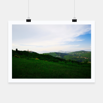 Thumbnail image of landscape near labin croatia std Poster, Live Heroes