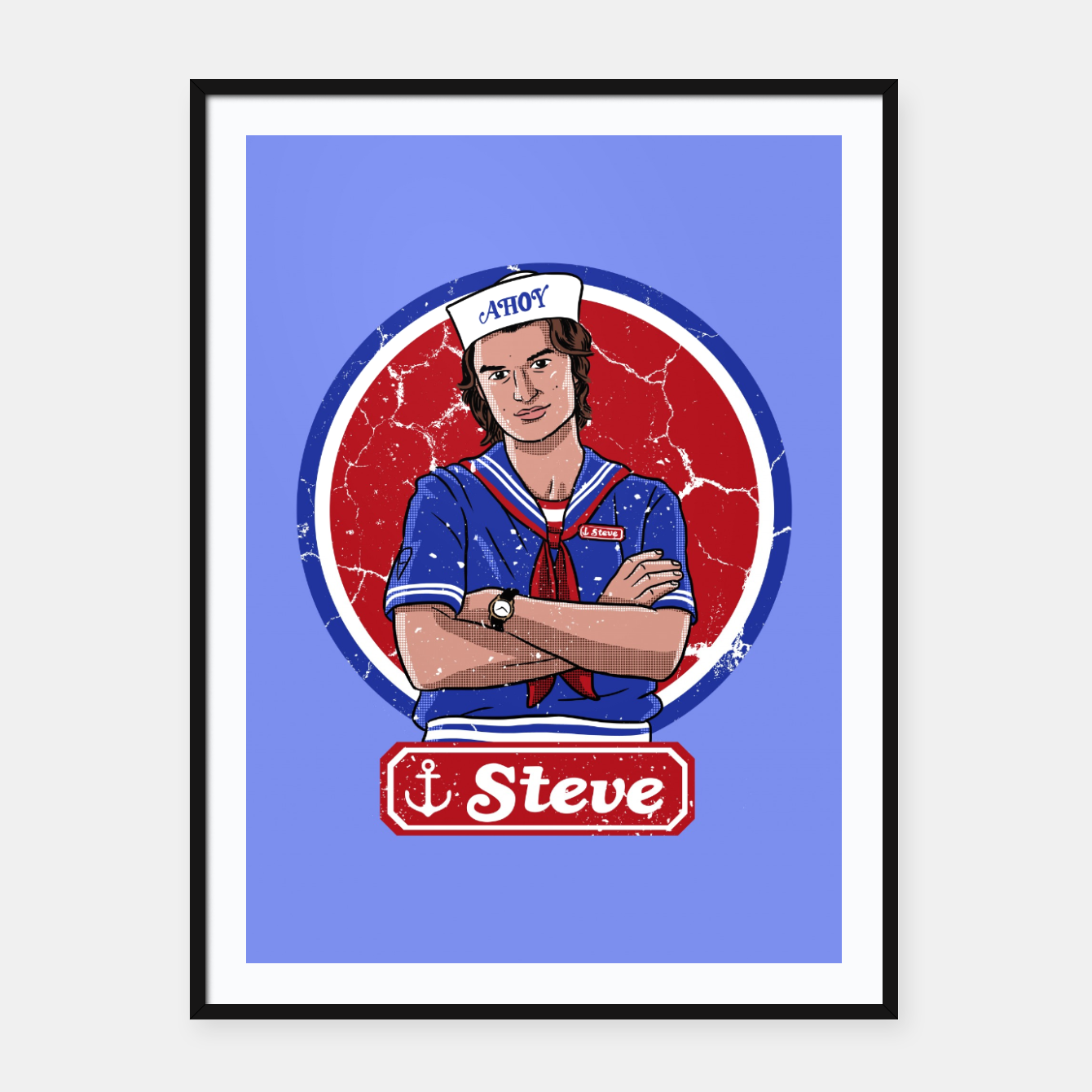 Image of Steve Ahoy Cartel con marco - Live Heroes