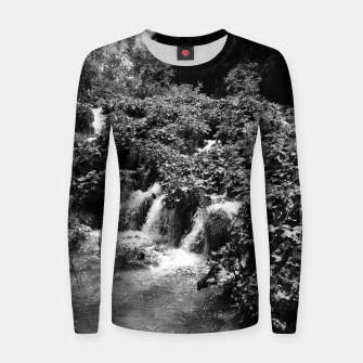 cascades at plitvice lakes national park croatia bw Women sweater thumbnail image