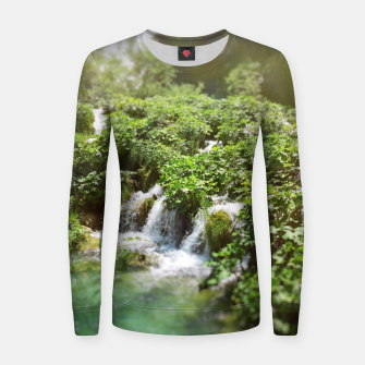cascades at plitvice lakes national park croatia sunrays Women sweater thumbnail image