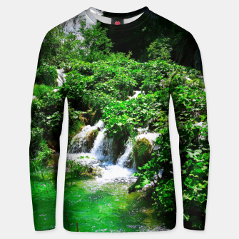 cascades at plitvice lakes national park croatia vibrant Unisex sweater thumbnail image