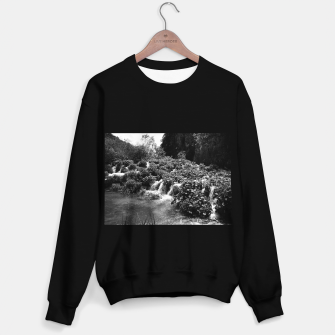cascades at plitvice lakes national park croatia bw Sweater regular thumbnail image