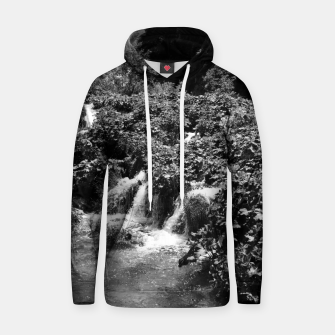 cascades at plitvice lakes national park croatia bw Hoodie thumbnail image