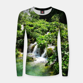 cascades at plitvice lakes national park croatia std Women sweater thumbnail image