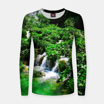 cascades at plitvice lakes national park croatia vibrant Women sweater thumbnail image