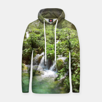 cascades at plitvice lakes national park croatia sunrays Hoodie thumbnail image