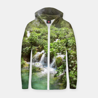 cascades at plitvice lakes national park croatia sunrays Zip up hoodie thumbnail image