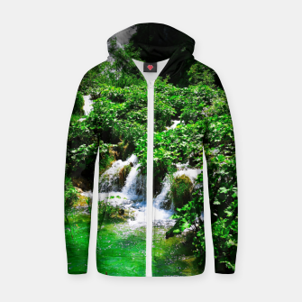 cascades at plitvice lakes national park croatia vibrant Zip up hoodie thumbnail image
