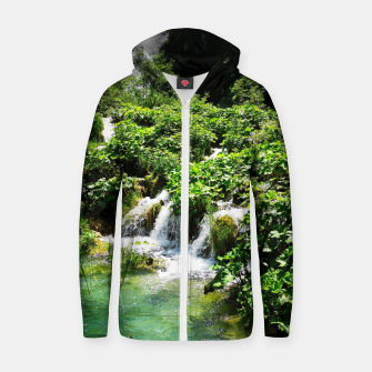 cascades at plitvice lakes national park croatia std Zip up hoodie thumbnail image