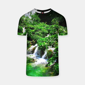 cascades at plitvice lakes national park croatia vibrant T-shirt thumbnail image