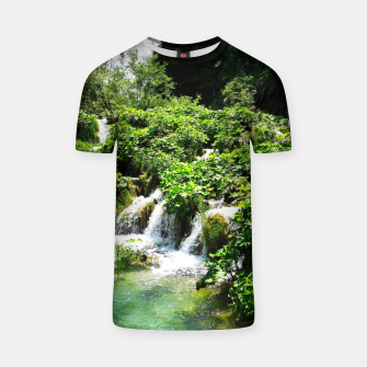 cascades at plitvice lakes national park croatia std T-shirt thumbnail image