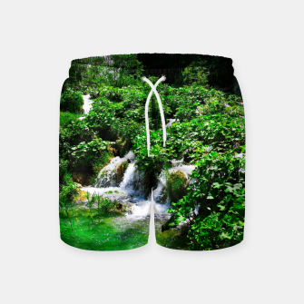 cascades at plitvice lakes national park croatia vibrant Swim Shorts thumbnail image