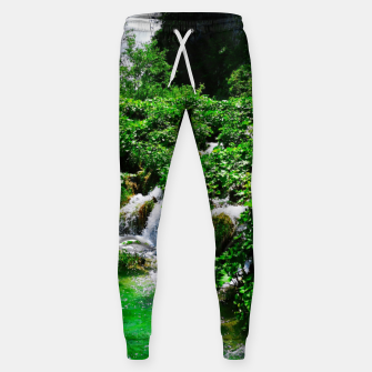 cascades at plitvice lakes national park croatia vibrant Sweatpants thumbnail image