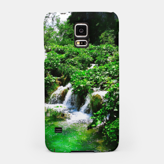 Thumbnail image of cascades at plitvice lakes national park croatia vibrant Samsung Case, Live Heroes