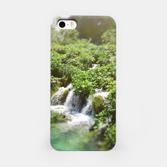 Thumbnail image of cascades at plitvice lakes national park croatia sunrays iPhone Case, Live Heroes