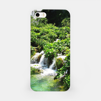 Thumbnail image of cascades at plitvice lakes national park croatia std iPhone Case, Live Heroes