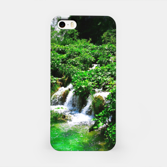 Thumbnail image of cascades at plitvice lakes national park croatia vibrant iPhone Case, Live Heroes