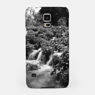 cascades at plitvice lakes national park croatia bw Samsung Case thumbnail image