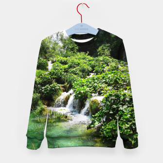 Thumbnail image of cascades at plitvice lakes national park croatia std Kid's sweater, Live Heroes