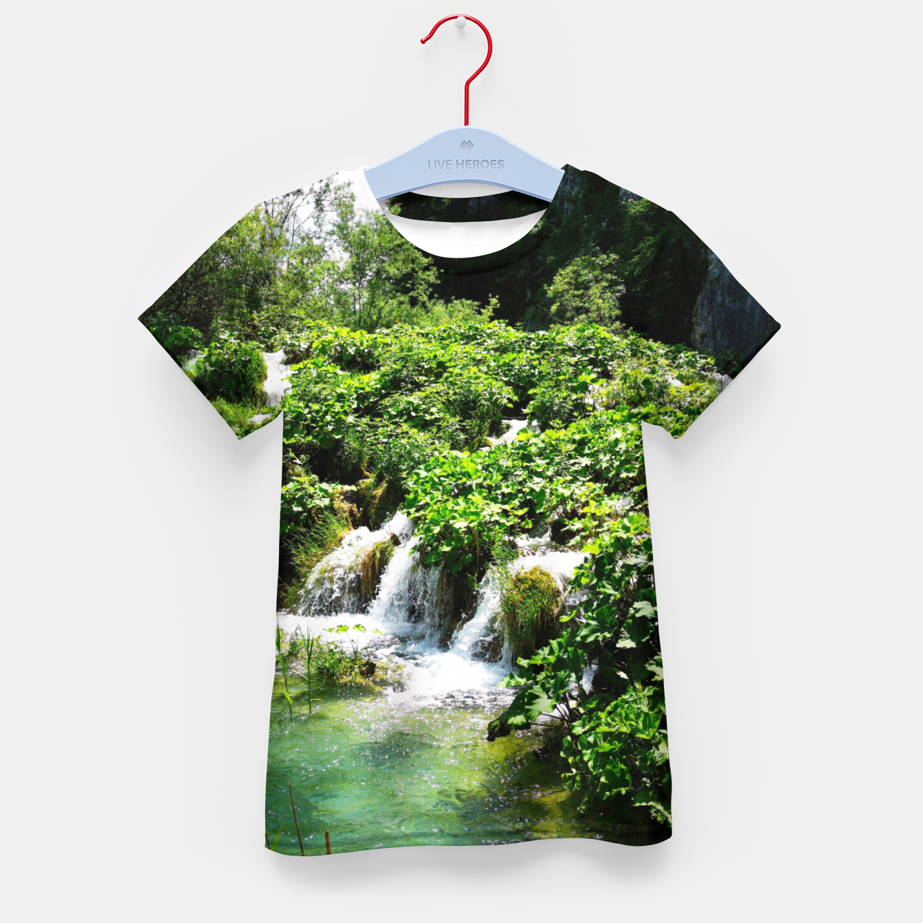 Image of cascades at plitvice lakes national park croatia std Kid's t-shirt - Live Heroes