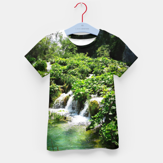 Thumbnail image of cascades at plitvice lakes national park croatia std Kid's t-shirt, Live Heroes