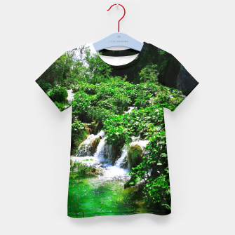 Thumbnail image of cascades at plitvice lakes national park croatia vibrant Kid's t-shirt, Live Heroes