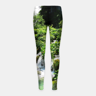 Thumbnail image of cascades at plitvice lakes national park croatia std Girl's leggings, Live Heroes