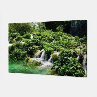 cascades at plitvice lakes national park croatia std Canvas thumbnail image