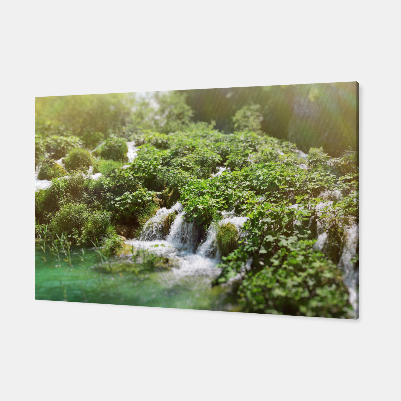 Image of cascades at plitvice lakes national park croatia sunrays Canvas - Live Heroes
