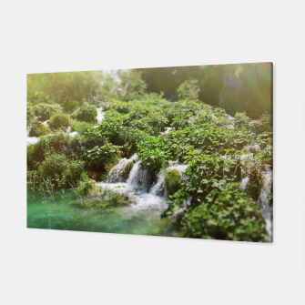Thumbnail image of cascades at plitvice lakes national park croatia sunrays Canvas, Live Heroes