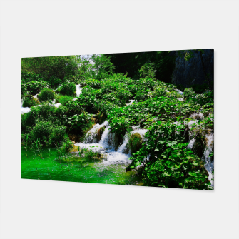 cascades at plitvice lakes national park croatia vibrant Canvas thumbnail image