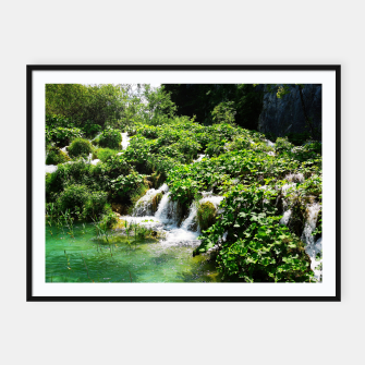 Thumbnail image of cascades at plitvice lakes national park croatia std Framed poster, Live Heroes