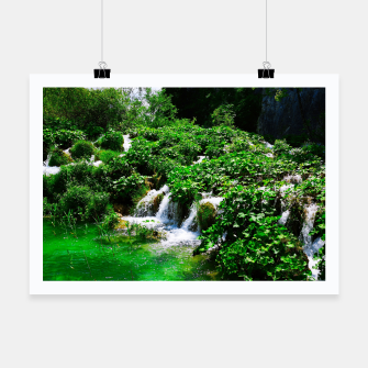 Thumbnail image of cascades at plitvice lakes national park croatia vibrant Poster, Live Heroes