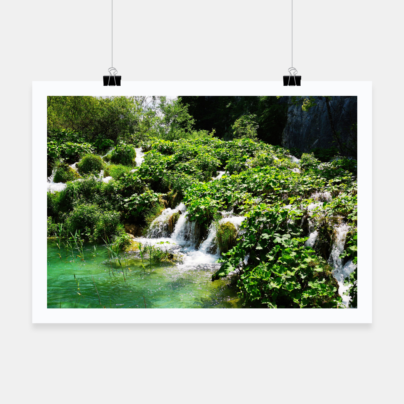 Image of cascades at plitvice lakes national park croatia std Poster - Live Heroes