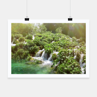 Thumbnail image of cascades at plitvice lakes national park croatia sunrays Poster, Live Heroes