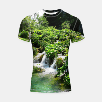 Thumbnail image of cascades at plitvice lakes national park croatia std Shortsleeve rashguard, Live Heroes