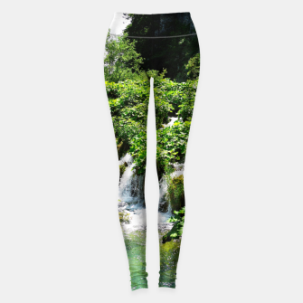 Thumbnail image of cascades at plitvice lakes national park croatia std Leggings, Live Heroes