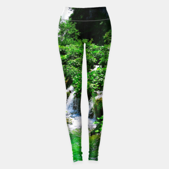 Thumbnail image of cascades at plitvice lakes national park croatia vibrant Leggings, Live Heroes
