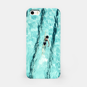 Thumbnail image of Swimmers and the pool iPhone Case, Live Heroes