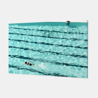 Thumbnail image of Swimmers and the pool Canvas, Live Heroes
