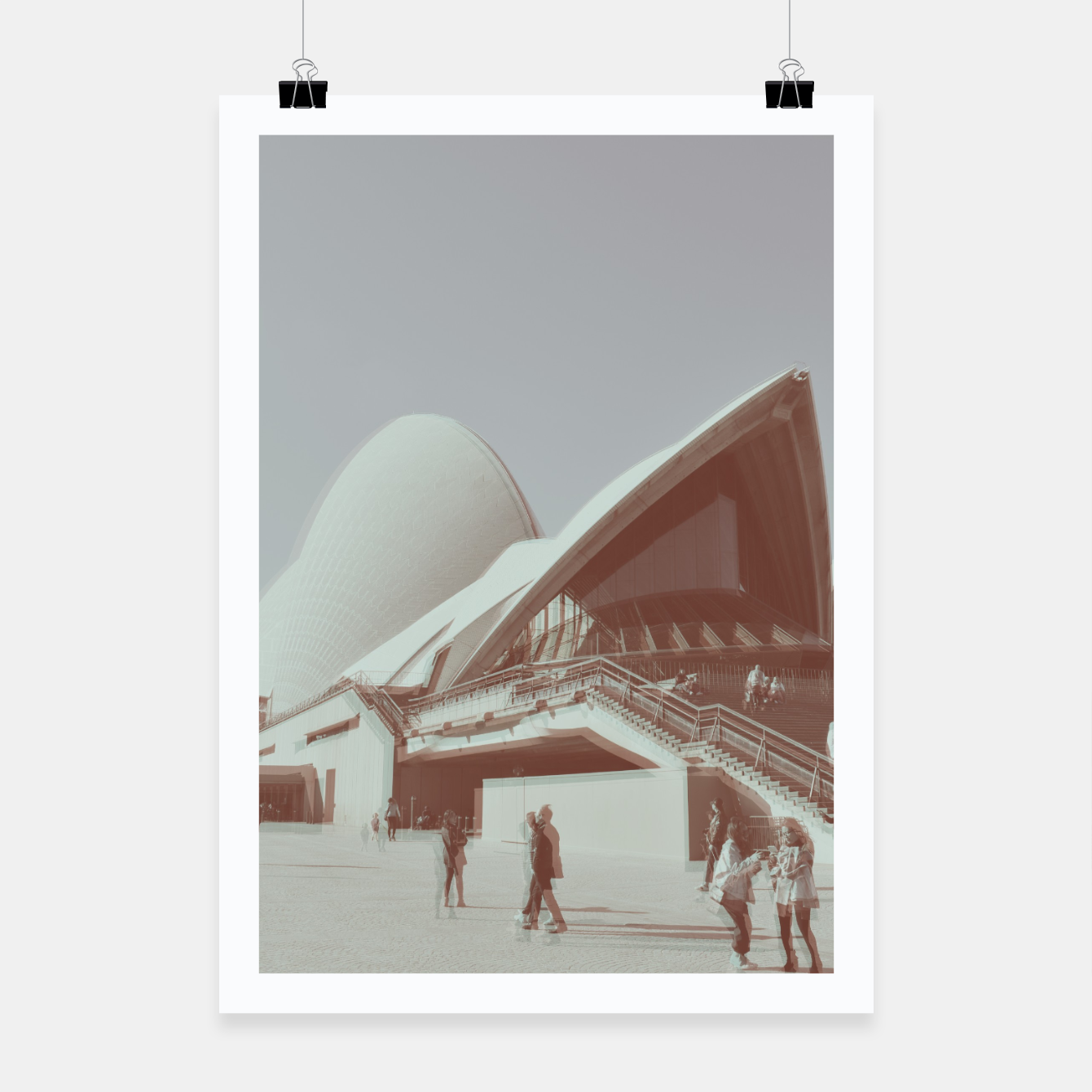 Image of Opera House and the people Poster - Live Heroes