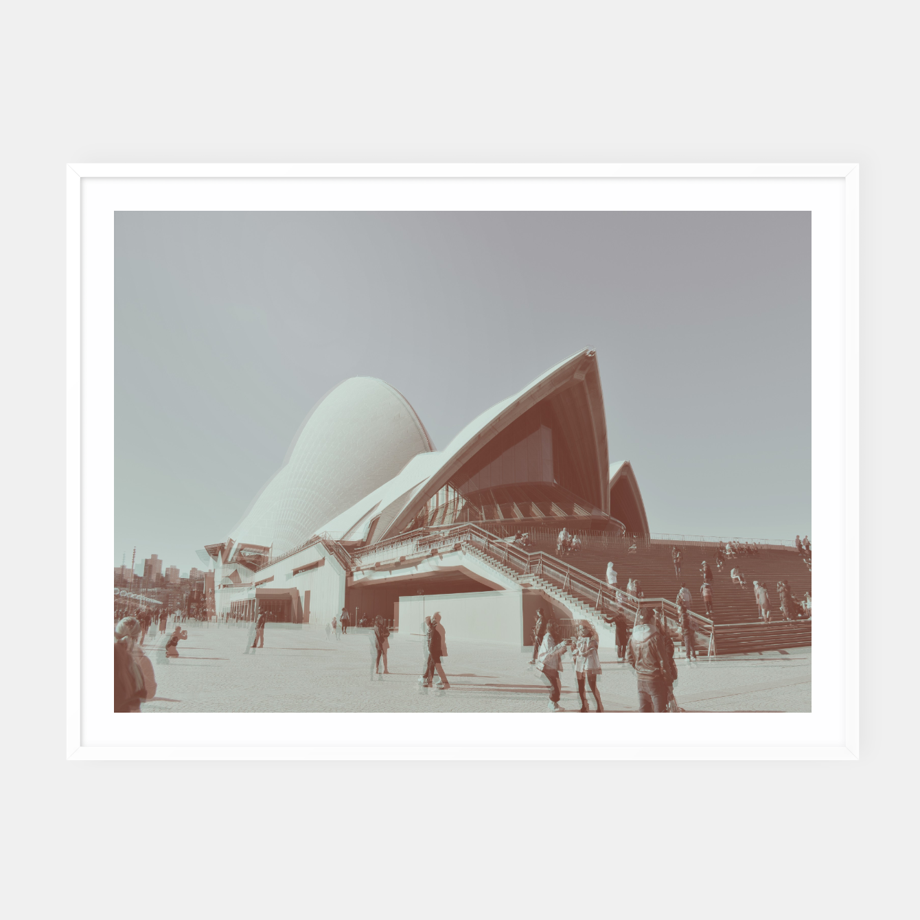 Image of Opera House and the people Framed poster - Live Heroes