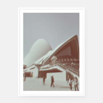 Imagen en miniatura de Opera House and the people Framed poster, Live Heroes
