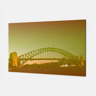 Thumbnail image of Bridge and the sunset Canvas, Live Heroes