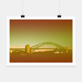 Thumbnail image of Bridge and the sunset Poster, Live Heroes