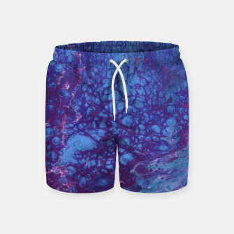 Thumbnail image of Smaller Reality - Teal, Pink, Purple Abstract Swim Shorts, Live Heroes