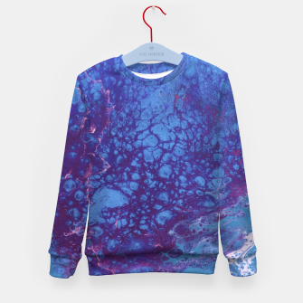 Thumbnail image of Smaller Reality - Teal, Pink, Purple Abstract Kid's sweater, Live Heroes