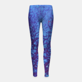 Thumbnail image of Smaller Reality - Teal, Pink, Purple Abstract Girl's leggings, Live Heroes