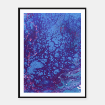 Thumbnail image of Smaller Reality - Teal, Pink, Purple Abstract Framed poster, Live Heroes